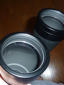 対物レンズ 内側 斑点
